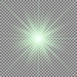 Estrella brillante en fondo transparente Imagenes de archivo