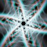 Estrella brillante mística con aberraciones Imagenes de archivo