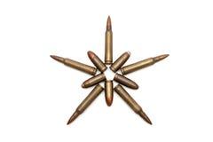 estrella Cinco-acentuada hecha de cartuchos Fotografía de archivo libre de regalías