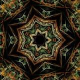 Estrella colorida del fractal libre illustration