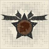 Estrella con alas y un cráneo Foto de archivo libre de regalías
