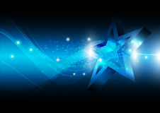 Estrella con el fondo de la tecnología ilustración del vector