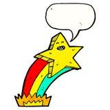 estrella con la historieta de la burbuja del discurso Imagenes de archivo