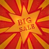 Estrella con venta grande del texto Fotos de archivo libres de regalías