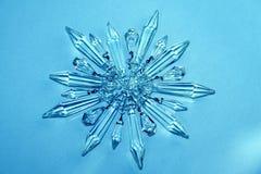 Estrella cristalina, copo de nieve Imagen de archivo libre de regalías