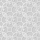 Estrella cruzada del papel 3D del damasco del vector del arte del modelo del polígono inconsútil del fondo 004 stock de ilustración