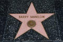 Estrella de Barry Manilow en el paseo de Hollywood de la fama foto de archivo libre de regalías