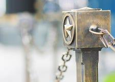 Estrella de bronce cerca del monumento del fuego eterno en Moscú Fotografía de archivo