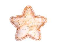 Estrella de cristal de la Navidad con la decoración de oro Fotos de archivo