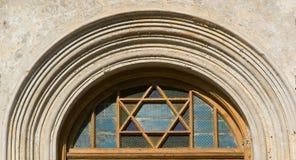 Estrella de David de la puerta de la fachada Imagen de archivo