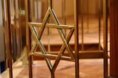 Estrella de David en sinagoga Imágenes de archivo libres de regalías