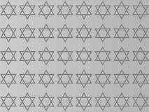 Estrella de David en un fondo gris stock de ilustración