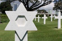 Estrella de David Grave Marker imagenes de archivo
