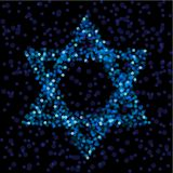 Estrella de David ligera Imagen de archivo libre de regalías