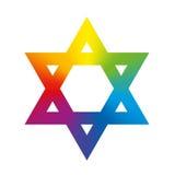 Estrella de David Rainbow Gradient White Imagenes de archivo