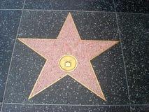 Estrella de Hollywood vacía en la acera de Hollywood Boulevard imagenes de archivo