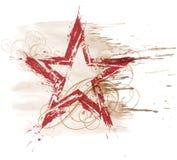 Estrella de la acuarela de Grunge Imagen de archivo