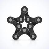 Estrella de la cadena de la bici Foto de archivo