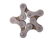 Estrella de la cadena de la bici Imagen de archivo libre de regalías