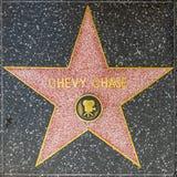 Estrella de la caza de Chevy en el paseo de Hollywood de la fama Imágenes de archivo libres de regalías