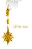 Estrella de la decoración del oro Imágenes de archivo libres de regalías