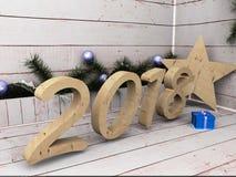 Estrella de la Feliz Año Nuevo Imágenes de archivo libres de regalías