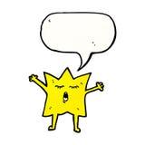 estrella de la historieta con la burbuja del discurso Imagen de archivo libre de regalías
