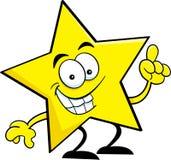 Estrella de la historieta con una idea. ilustración del vector