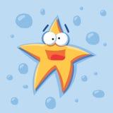 Estrella de la historieta del vector Fotografía de archivo libre de regalías