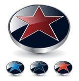 Estrella de la insignia 3d Fotos de archivo libres de regalías