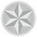 Estrella de la insignia de David Imágenes de archivo libres de regalías