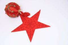 Estrella de la Navidad foto de archivo