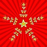 Estrella de la Navidad de los cabritos ilustración del vector
