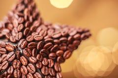 Estrella de la Navidad del café Imagenes de archivo