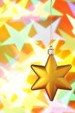 Estrella de la Navidad del oro Fotografía de archivo libre de regalías