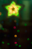 Estrella de la Navidad y el múltiplo Fotografía de archivo