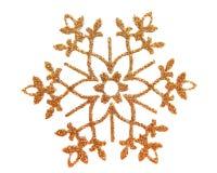 Estrella de la nieve del brocado del oro Imágenes de archivo libres de regalías