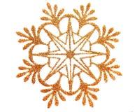 Estrella de la nieve del oro Fotos de archivo