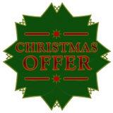 Estrella de la oferta de la Navidad Imagen de archivo libre de regalías