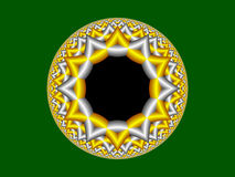 Estrella de la representación del fractal stock de ilustración