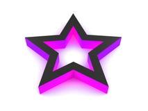 estrella de la violeta 3D Imágenes de archivo libres de regalías