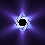 Estrella de las flamas púrpuras de la luz de David libre illustration