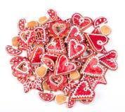 Estrella de las galletas del pan de jengibre Imagen de archivo libre de regalías