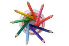 Estrella de los lápices de los lápices Foto de archivo libre de regalías