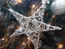 Estrella de los ornamentos de la Navidad Imagenes de archivo