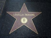 Estrella de los párrocos de Louella en hollywood foto de archivo
