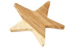 Estrella de madera Imagenes de archivo