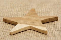 Estrella de madera Fotos de archivo libres de regalías