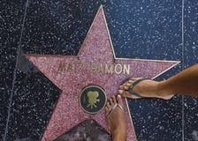 Estrella de Matt Damon en el paseo de la fama imágenes de archivo libres de regalías