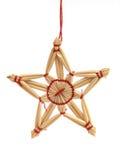 Estrella de mimbre Imágenes de archivo libres de regalías